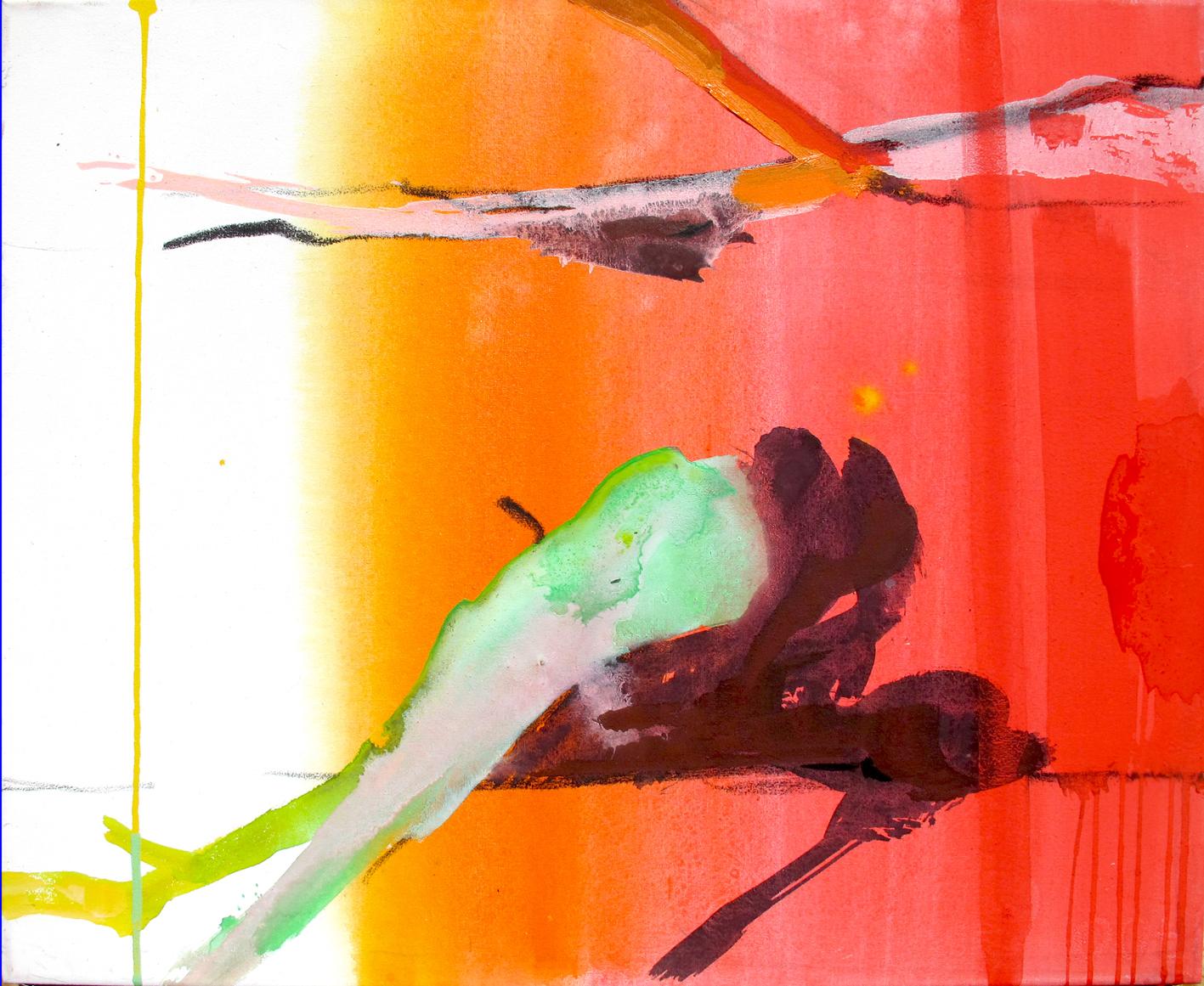 Spectrum 3_ 460-490 50 x 60 acryl and oil on canvas